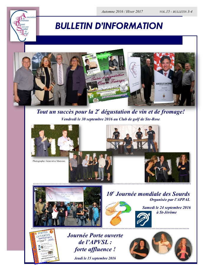 Bulletin Automne 2016 - Hiver 2017