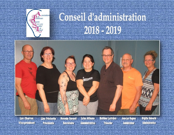 Conseil d'administration 2018-2019